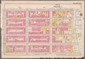[Plate 125: Bounded by E. 110th Street, Pleasant Avenue (Harlem River), E. 105th Street and Third Avenue.]