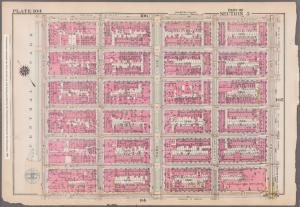[Plate 104: Bounded by E. 65th Street, Third Avenue, E. 59th Street, and (Central Park) Fifth Avenue.]