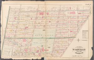 [Plate 6: Bounded by Clinton Avenue, Gates Avenue, Fulton Street, Navy Street and Flushing Avenue.]