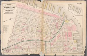 [Plate 1:Bounded by Furman Street (East River), Plymouth Street, Adams Street Myrtle Avenue and Pierpont Street.]
