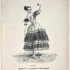 La cachucha as danced by Madlle. Fanny Elssler, with Une waltz sentimentale.