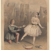 Mad'lle Auriol  M'r Flexmore in the favourite pas La truandaise, in the ballet of Esmeralda, played at the Princess's Theatre, produced by M'r Flexmore, April 24th 1848.