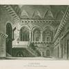 Carceri nel ballo Bianca di Messina. Stucchi inc.  Ang. [i.e. Angeli] acq. [after a set design by Sanquirico]