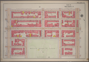 [Plate 15: Bounded by W. 127th Street, E. 127th Street, Park Avenue, E. 124th Street (Mount Morris Park), W. 124th Street and Lenox Avenue.]