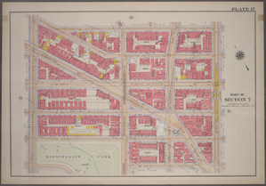 [Plate 17: Bounded by W. 127th Street, Eighth Avenue, W. 12nd Street, Morningside Avenue, (Morningside Park) W. 123rd Street and Amsterdam Avenue.]