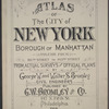 Atlas of the City of New York, Borough of Manhattan, Volume Four, 110th Street to 145th Street [title page]