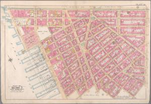 [Plate 10: Bounded by W. 14th Street, Sixth Avenue, Cornelia Street, Bleecker Street, Barrow Street, Bedford Street, Christopher Street, Hudson Street, W. 10th Street, Washington Street, Charles Street, West Street (Hudson River, ???), Gansevoort Street, and (Hudson River, ????) Thirteenth Avenue.]