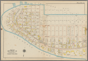 Plate 28: [Bounded by Bay View Avenue, W. 37th Street, (Gravesend Bay) Canal Avenue, W. 23rd Street, Surf Avenue, (Atlantic Ocean) Atlantic Avenue, Surf Avenue, Poplar Avenue and Seagate Avenue.]