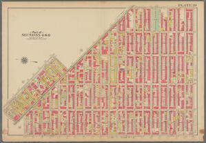 Plate 20: [Bounded by Saratoga Avenue, Chauncey Street, Stuyvesant Avenue, Hart Street, Broadway, Willoughby Avenue, Bushwick Avenue & Broadway.]