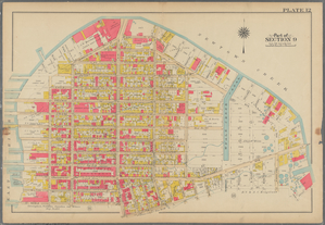 Plate 12: [Bounded by Commercial Street, Ash Street, Box Street, Paidge Avenue (Newtown Creek), Sutton Street, Calyer Street, Manhattan Avenue, Noble Street, West Street (East River Piers) and Commercial Street.]