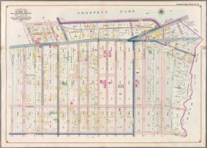 Double Page Plate No. 8: [Bounded by Ocean Avenue, Flatbush Avnue, Washington Place, Washington Avenue, Malbone Street, Nostrand Avenue, Martense Street, Flatbush Avenue and Caton Avenue.]