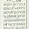 Cab Calloway.