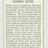 Sydney Kyte.