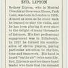 Syd. Lipton.