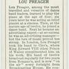 Lou Preager.