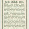Sutlej medals, 1846.