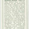 Mutiny medal, 1857-8.