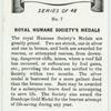 Royal Humane Society's medals.