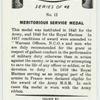 Meritorious service medal.