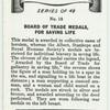 Board of Trade medals for saving life.