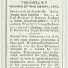 """""""Sunstar"""" Derby, 1911."""