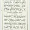 """""""Coronach"""" Derby, 1926."""