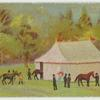 [Tent and horses.]