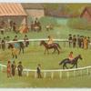 [Horses in circular enclosure.]