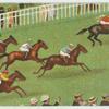 [Horses on racetrack.]