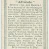 """""""Advocate""""."""