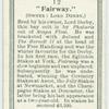 """""""Fairway""""."""
