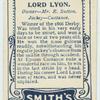 Lord Lyon.