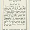 Sunstar, 1911.