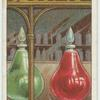 Do you know why chemists have large bottles of coloured liquid in their windows?