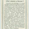 Do you know what causes a geyser?