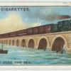 Do you know where a railway runs over the sea?