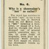 """Why is a shoemaker's """"last"""" so called?"""