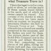 Do you know what treasure trove is?