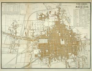 Plano general de la ciudad de México, 1875.