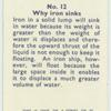 Do you know why iron sinks?