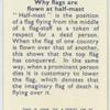 Do you know why flags are flown at half-mast?