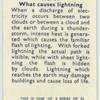 Do you know what causes lightening?