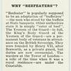 """Do you know why """"Beefeaters""""?"""