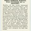 Do you know what famous school was founded by a grocer?