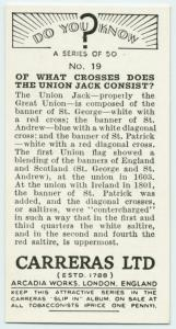 Do you know of what crosses does the Union Jack consist?