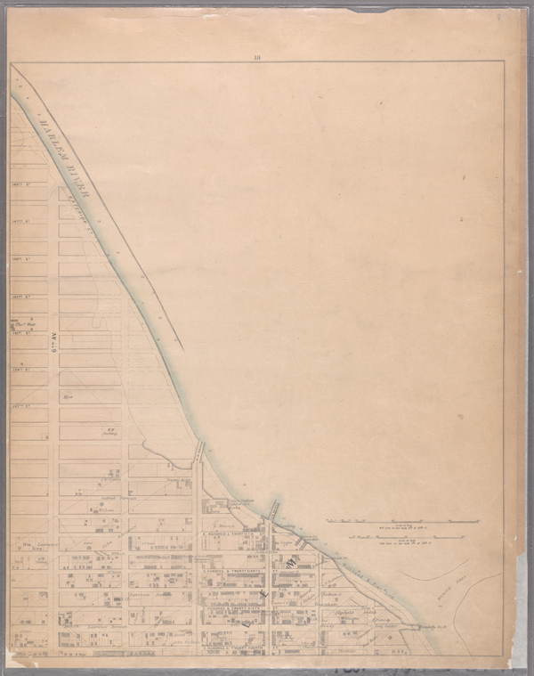 Sheet 18: [Bounded by 149th Street, (Harlem River,Bulk Head & Pier Lane), E. Hundred & Twenty Fourth Street.]