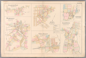 Plate 16: Greenwich Point, Town of Hempstead, Hewetts, Town of Hempstead, Seaford, Town of Hempstead, Pearsalls, Town of Hempstead, Valley Stream, Town of Hempstead and Baldwins, Town of Hempstead.