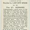 The St. Bernard.