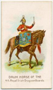 Drum horse of the 4th, Royal Irish Dragoon Guards.