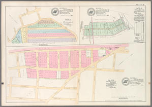 Plate 31: Map No. 325 [Bounded by Road leading from Fordham to West Farms, Jackson Ave., Columbia Ave., Taylor Ave., Road leading from Fordham to West Farms and Orchard Terrace.] - Map No. 317: [Bounded by Berrian Ave., Corsa Ave. and Bronx River.] - Map No. 326:[Bounded by Harlem Railroad, owell Place, Delancy Place, Bayard St., Lorillard St., Fordham Ave., TaylorSt., Washington Ave. and Fletcher St.]